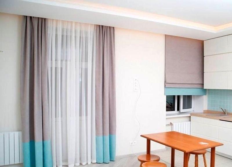 кухня студия шторы фото складки